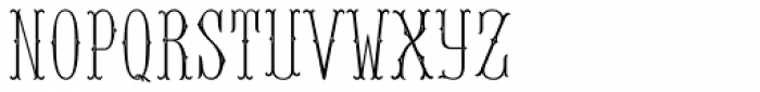 MFC Baelon Monogram Stencil 10000 Impressions Font LOWERCASE