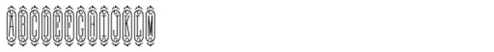 MFC Bijou Monogram (250 Impressions) Font UPPERCASE