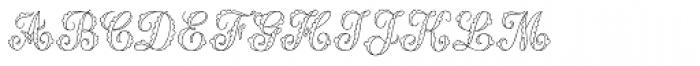 MFC Billow Monogram 10000 Impressions Font LOWERCASE