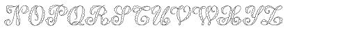 MFC Billow Monogram 250 Impressions Font LOWERCASE