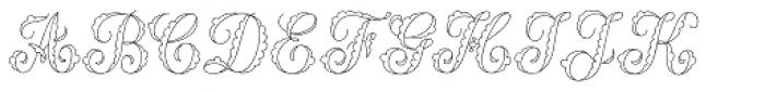 MFC Billow Monogram 25000 Impressions Font UPPERCASE