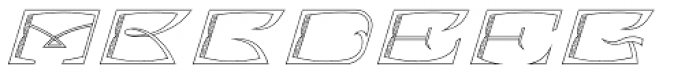 MFC Bontebok Monogram 1000 Impressions Font UPPERCASE