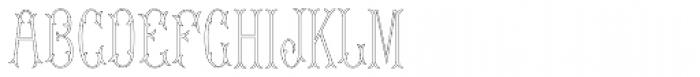 MFC Budding Monogram 1000 Impressions Font UPPERCASE