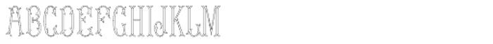 MFC Budding Monogram 1000 Impressions Font LOWERCASE