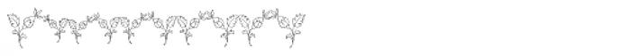 MFC Budding Monogram 250 Impressions Font OTHER CHARS