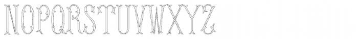 MFC Budding Monogram 250 Impressions Font UPPERCASE