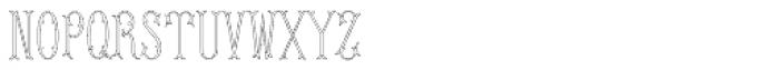 MFC Budding Monogram 25000 Impressions Font LOWERCASE