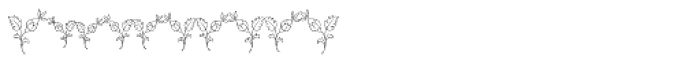 MFC Budding Monogram Basic 1000 Impressions Font OTHER CHARS