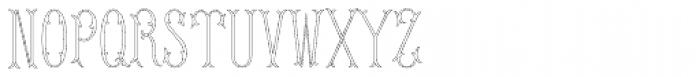 MFC Budding Monogram Basic 1000 Impressions Font UPPERCASE