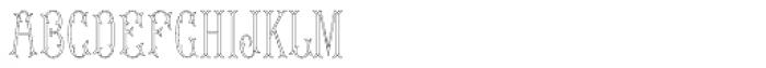 MFC Budding Monogram Flourish 10000 Impressions Font LOWERCASE