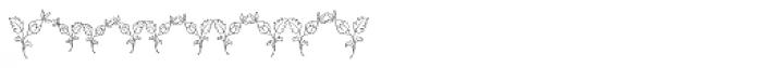MFC Budding Monogram Flourish 250 Impressions Font OTHER CHARS