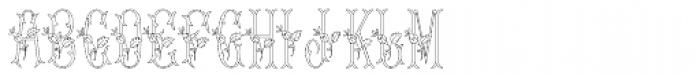 MFC Budding Monogram Flourish 250 Impressions Font UPPERCASE