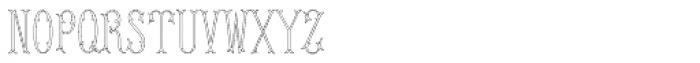 MFC Budding Monogram Flourish 250 Impressions Font LOWERCASE