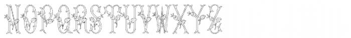 MFC Budding Monogram Flourish 25000 Impressions Font UPPERCASE