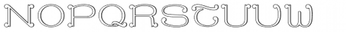 MFC Capulet Monogram 250 Impressions Font UPPERCASE