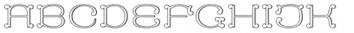 MFC Capulet Monogram 25000 Impressions Font UPPERCASE