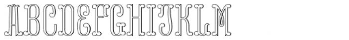 MFC Capulet Monogram 25000 Impressions Font LOWERCASE