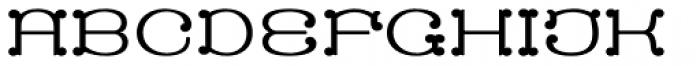 MFC Capulet Monogram Solid 250 Impressions Font LOWERCASE