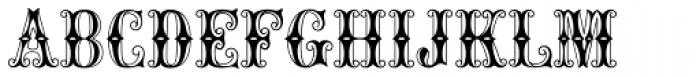 MFC Carnivale Monogram 250 Impressions Font UPPERCASE