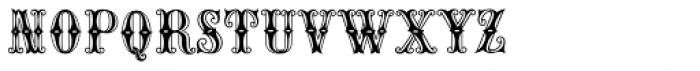 MFC Carnivale Monogram 250 Impressions Font LOWERCASE