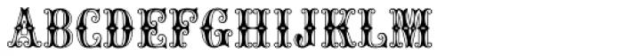 MFC Carnivale Monogram 25000 Impressions Font LOWERCASE