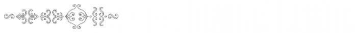 MFC Chaplet Monogram 1000 Impressions Font OTHER CHARS