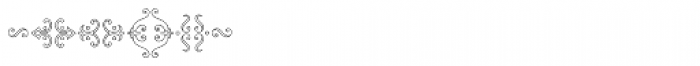 MFC Chaplet Monogram 10000 Impressions Font OTHER CHARS