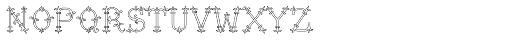 MFC Chaplet Monogram 10000 Impressions Font LOWERCASE