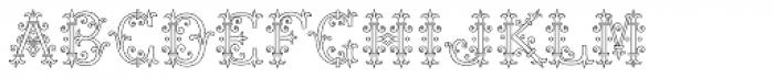 MFC Chaplet Monogram 250 Impressions Font UPPERCASE