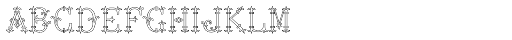 MFC Chaplet Monogram 250 Impressions Font LOWERCASE