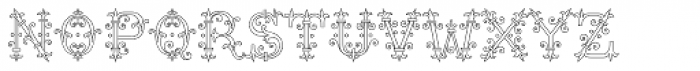 MFC Chaplet Monogram 25000 Impressions Font UPPERCASE