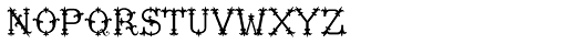 MFC Chaplet Solid Mngm 10000 Impressions Font LOWERCASE
