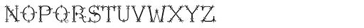 MFC Chaplet Stencil Mngm 1000 Impressions Font LOWERCASE