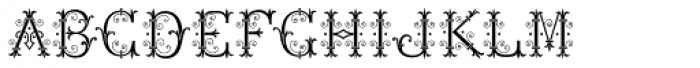 MFC Chaplet Stencil Mngm 250 Impressions Font UPPERCASE