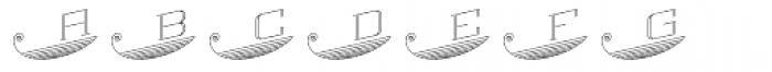 MFC Escutcheon Monogram (1000 Impressions) Font LOWERCASE