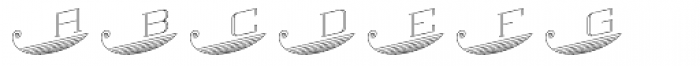 MFC Escutcheon Monogram (10000 Impressions) Font LOWERCASE