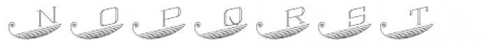 MFC Escutcheon Monogram (25000 Impressions) Font LOWERCASE