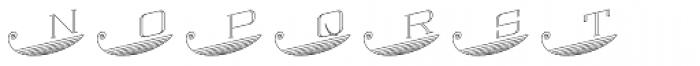 MFC Escutcheon Monogram Basic (1000 Impressions) Font LOWERCASE