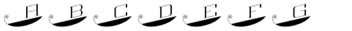 MFC Escutcheon Monogram Solid (1000 Impressions) Font LOWERCASE