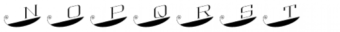 MFC Escutcheon Monogram Solid (25000 Impressions) Font LOWERCASE