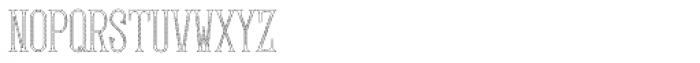 MFC Gilchrist Monogram 1000 Impressions Font LOWERCASE