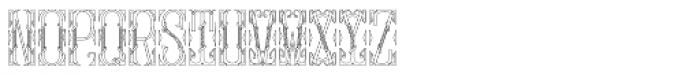 MFC Gilchrist Monogram 250 Impressions Font UPPERCASE