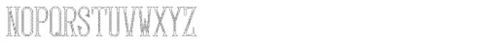 MFC Gilchrist Monogram 250 Impressions Font LOWERCASE