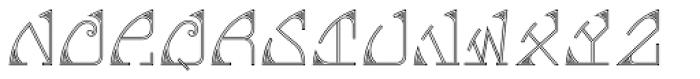 MFC Glencullen Monogram 1000 Impressions Font UPPERCASE
