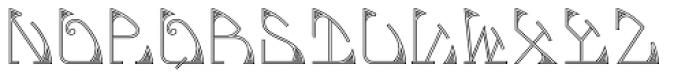 MFC Glencullen Monogram 1000 Impressions Font LOWERCASE