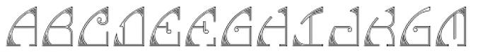 MFC Glencullen Monogram 25000 Impressions Font UPPERCASE
