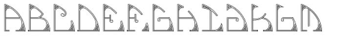 MFC Glencullen Monogram 25000 Impressions Font LOWERCASE