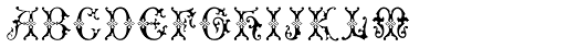 MFC Imperator Monogram Fill Font LOWERCASE