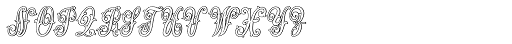 MFC Jewelers Monogram 25000 Impressions Font LOWERCASE