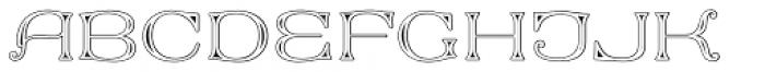 MFC Keating Monogram 25000 Impressions Font UPPERCASE